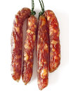Fatty chinese pork sausages close up of Royalty Free Stock Image