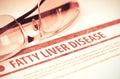 Fatty Liver Disease. Medicine. 3D Illustration.