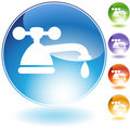Faucet Crystal Icon Royalty Free Stock Images