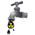 faucet with drop water contaminated