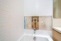 Faucet repair in the bathroom Royalty Free Stock Photo