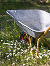 Faule Gardener?s Schubkarre Stockfotos