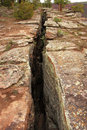 Fault line or fracture in the earth Royalty Free Stock Images