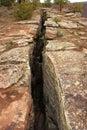 Porucha linka alebo zlomenina v Zem