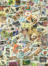 Fauna - background of postage stamps Royalty Free Stock Image
