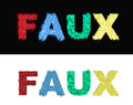 Faux fur fake letters on black and white backgrounds Royalty Free Stock Photos