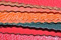 Faux Leather Swatches Royalty Free Stock Photo