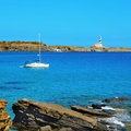Favaritx beacon in Menorca Royalty Free Stock Photography