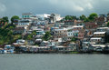 Favela on the amazon in manaus poverty a brasilian slum favelas river Stock Photography