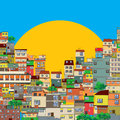 Favela brasilian illustration cartoon art Royalty Free Stock Photo