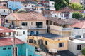 Favela in sao paulo illegal and fragile constructions Stock Image