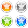 Favorite buttons. Royalty Free Stock Photo