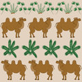 The favorite food of camel is the camel thorn and other desert plants ship Stock Photography