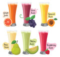 Favors fruit and vegetables juice vector and cliparts