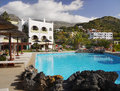 Favourite holidays destination plakias crete alianthos garden hotel view in island Royalty Free Stock Photography
