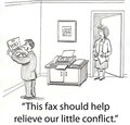 Fax conflict Stock Photography