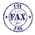 Fax rubber stamp Royalty Free Stock Images