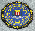 Fbi emblem on fallen officers memorial in brooklyn ny new york april april were killed september Royalty Free Stock Photo
