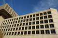 Fbi j edgar hoover building in washington dc or federal bureau of investigation headquarter side view on tenth st nw as a law Stock Photography