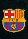FC Barcelona Badge Stock Photos