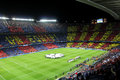 Fc barcelona vs ac milan champions league match camp nou stadium Royalty Free Stock Photo