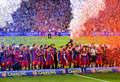 FC Barcelona wins the League Stock Photos