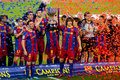 FC Barcelona wins the Spanish League Stock Photography