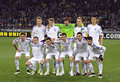 FC Dynamo Kyiv players pose for a group photo Royalty Free Stock Photo