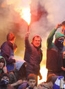 FC Dynamo Kyiv ultra supporters Stock Image