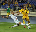 FC Metalist Kharkiv vs AC Omonia Nicosia match Stock Photos