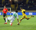 FC Metalist Kharkiv vs AC Omonia Nicosia match Royalty Free Stock Photography