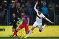 Fc steaua bucharest fc dinamo bucharest alexandru chipciu and dragos grigore fighting for the ball during the football match Stock Images