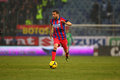 Fc steaua bucharest fc dinamo bucharest lucian sinmirtean sanmartean following the ball during the football match counting for the Stock Photos
