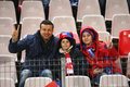 Fc steaua bucharest fc dinamo bucharest supporters family during the football match counting for the romanian league one between Stock Images