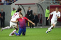 FC Steaua Bucharest - FC Rapid Bucharest Stock Photo