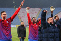 FC Steaua Bucharest - FC Turnu Severin Stock Photography