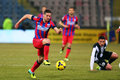 Fc steaua bucharest u cluj alexandru chipciu fighting for the ball during the football match counting for the romanian league one Royalty Free Stock Image
