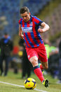 Fc steaua bucharest u cluj alexandru chipciufollowing the ball during the football match counting for the romanian league one Stock Images