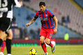 Fc steaua bucharest u cluj cristian tanase following the ball during the football match counting for the romanian league one Royalty Free Stock Image