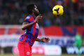 Fc steaua bucharest u cluj fernando varela following the ball during the football match counting for the romanian league one Royalty Free Stock Photos
