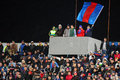 Fc steaua bucharest u cluj supporters during the football match counting for the romanian league one between andu Stock Images