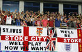FC Stoke City supporters show their support Royalty Free Stock Photos