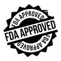 Fda approved stamp Royalty Free Stock Photo