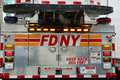 Fdny fire truck in manhattan Royalty Free Stock Photos