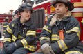 FDNY firefighters on duty, New York City, USA Stock Images
