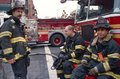 FDNY firefighters on duty, New York City, USA Stock Image