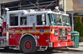Fdny tower ladder new york city oct truck in manhattan on otc is the largest combined fire and ems provider in the world Royalty Free Stock Image