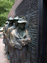 Fdr memorial the breadline statues of unemployed men standing in a bread line during great depression at in washington d c Stock Image
