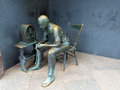 Fdr memorial statue of man listening to a radio at the in washington d c Stock Photography