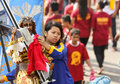 Feast of black nazareno philippines metro manila january a devotee wipe a towel to the replica statue the nazarene thousands Royalty Free Stock Photo